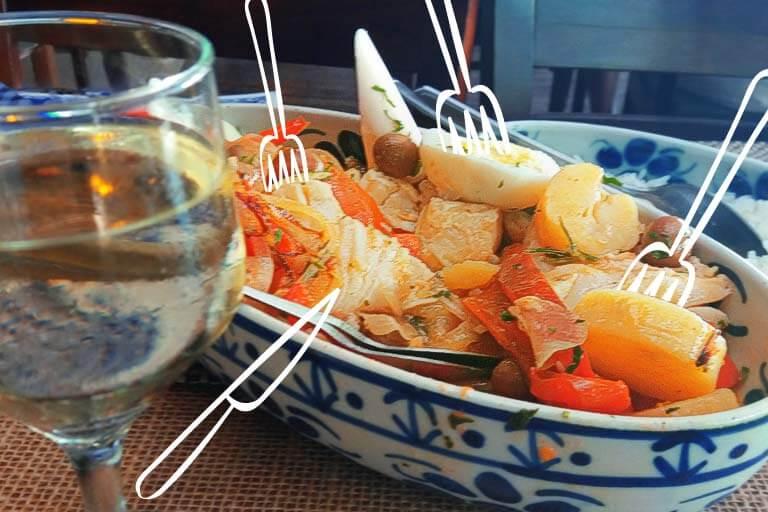 bacalhoada do restaurante quinta do olivardo