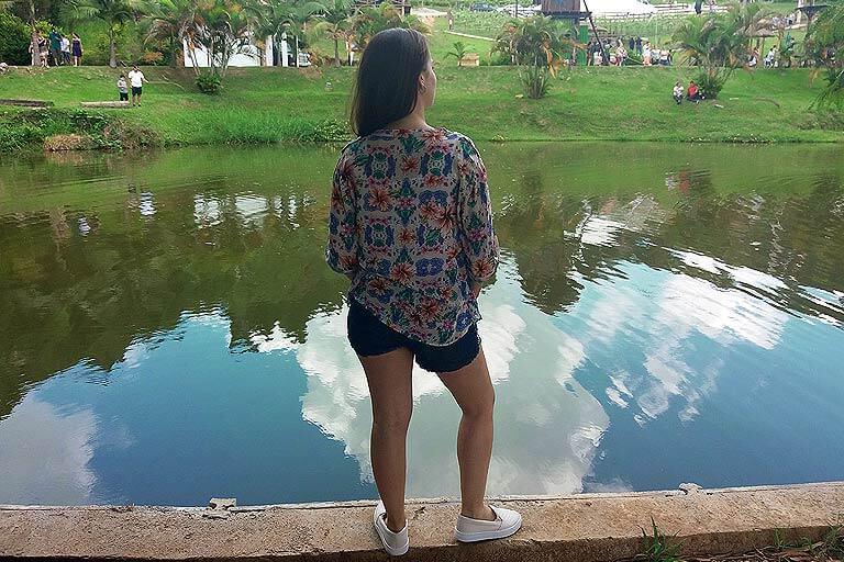 lago do restaurante Quinta do Olivardo em São Roque