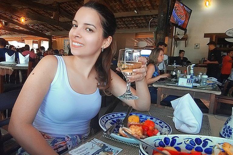 Vinho do porto e Bacalhau do Restaurante Quinta do Olivardo
