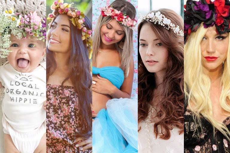 coroa de flores para book bebê, ensaio de 15 anos, gestantes e noiva