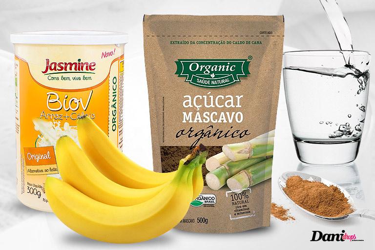 ingredientes para fazer shake de banana sem lactose