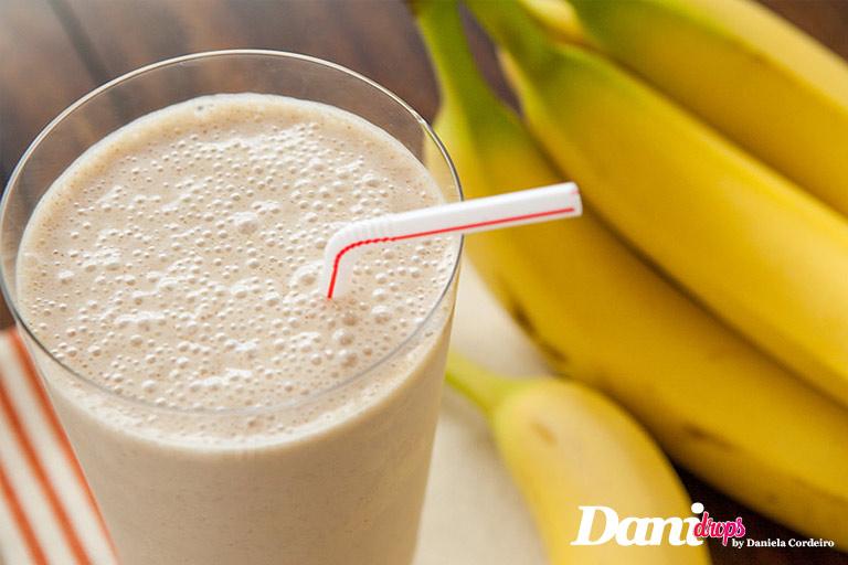 shake de banana com cacau sem lactose