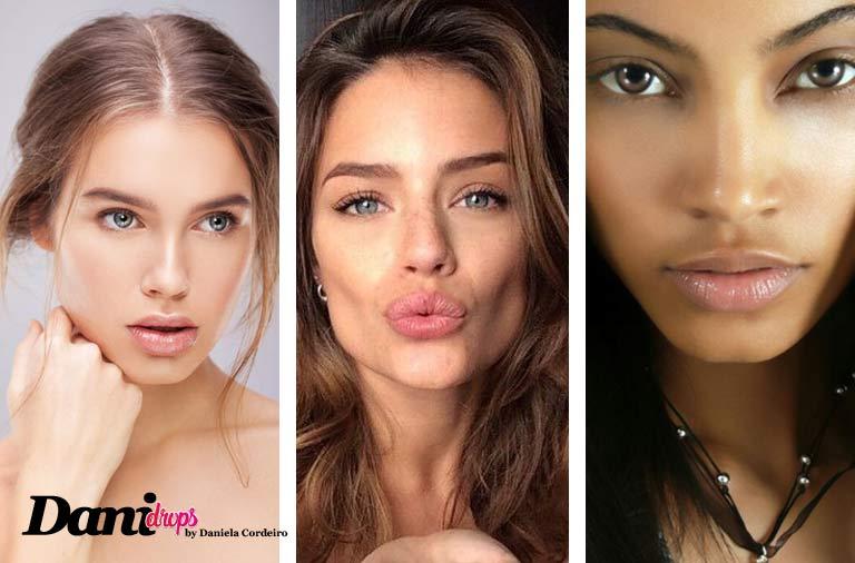 modelos usando a tendência de maquiagem no makeup look maquiagem clean