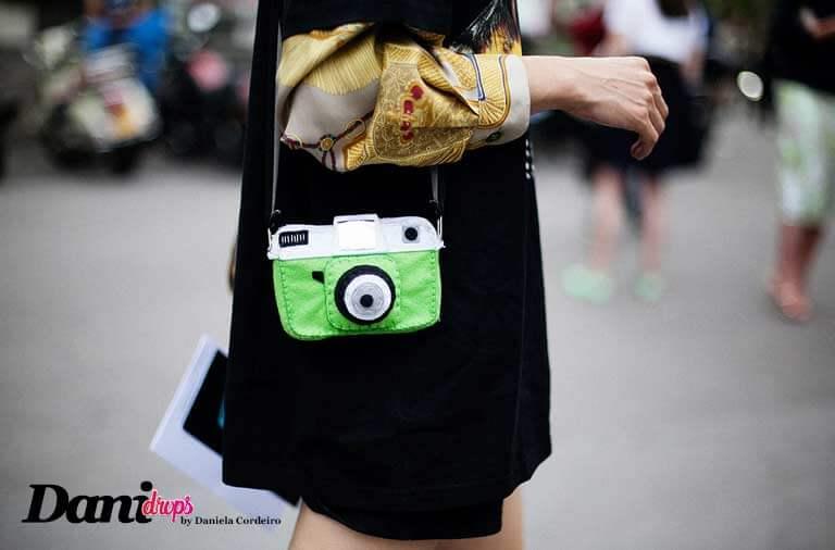 bolsa funny bags câmera verde