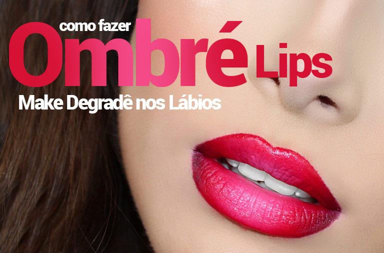como fazer Ombré lips com Batom vermelho