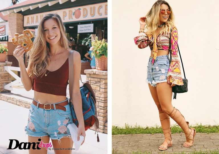 Inspirações de Looks com Short Jeans