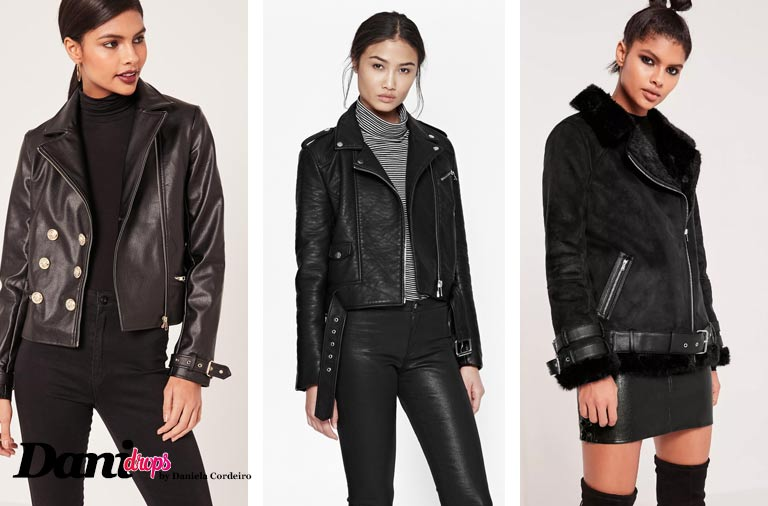 jaquetas couro fake