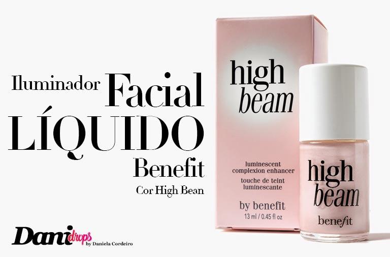 Iluminador Facial Líquido da Benefit na Cor High Bean