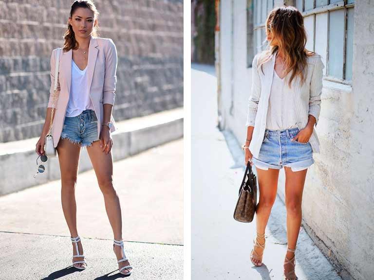 Looks Short Jeans e Camiseta Branca