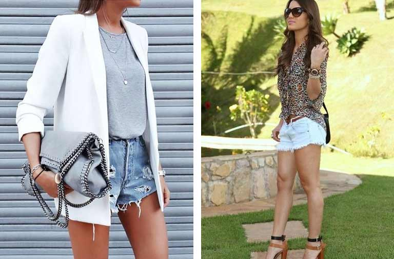 Looks Short Jeans elegante