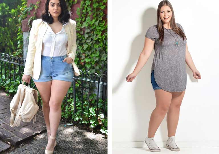Looks com Short Jeans Plus Size