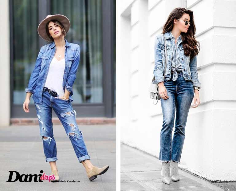 Tendência Look Total Jeans