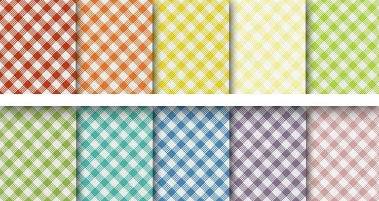 estampas xadrez vichy coloridas
