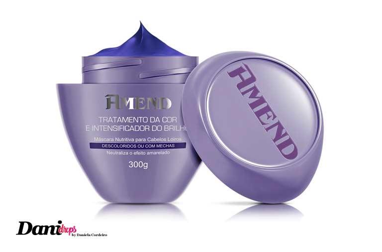 máscara amend para tratamento da cor e intensificador do brilho