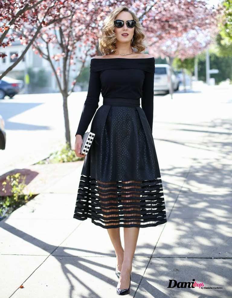 vestido preto transparente