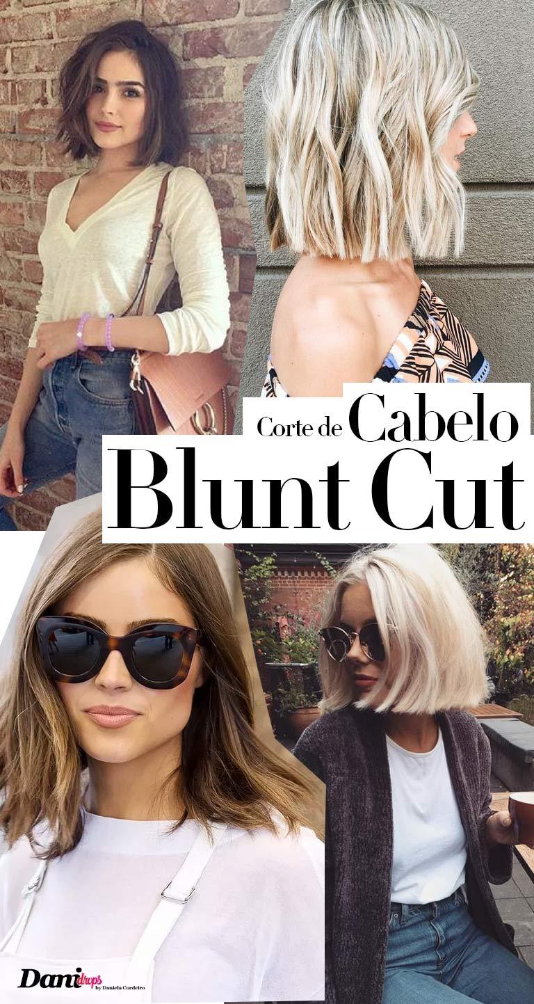 corte de cabelo Blunt Cut
