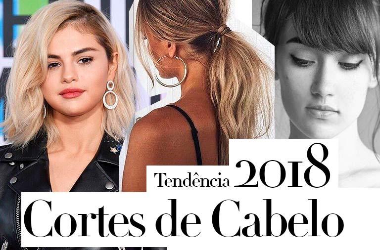 Tendência Cortes de Cabelo 2018: MELHORES CORTES DE CABELO para você Mudar o Visual