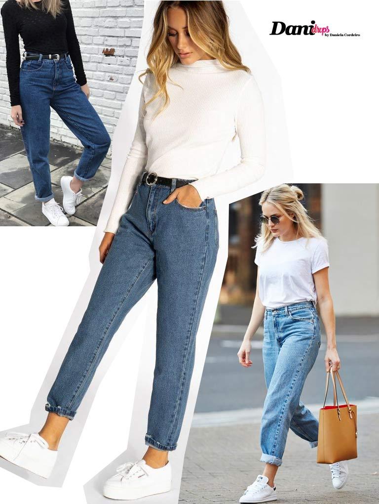 modelo de calça jeans Mom Jeans
