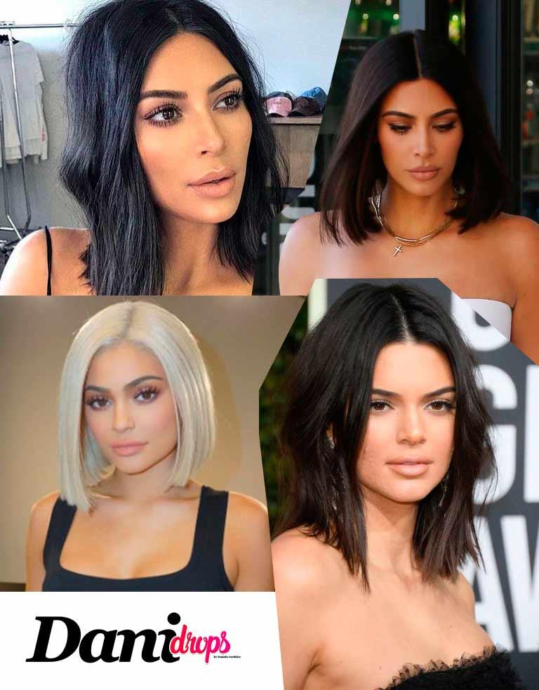 tendência de corte de cabelo Kim Kardashian