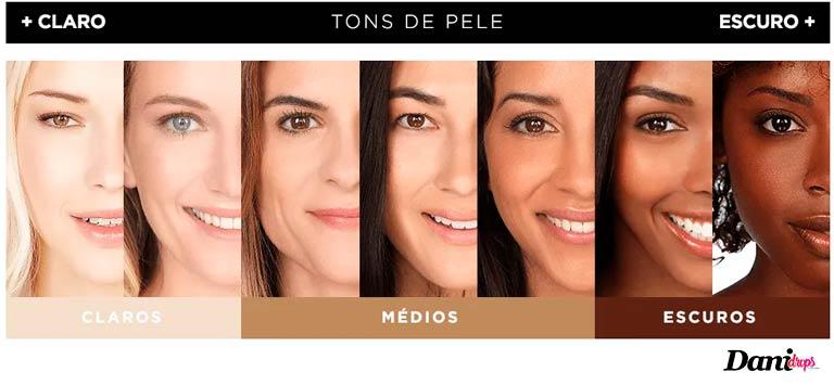 base tons de pele