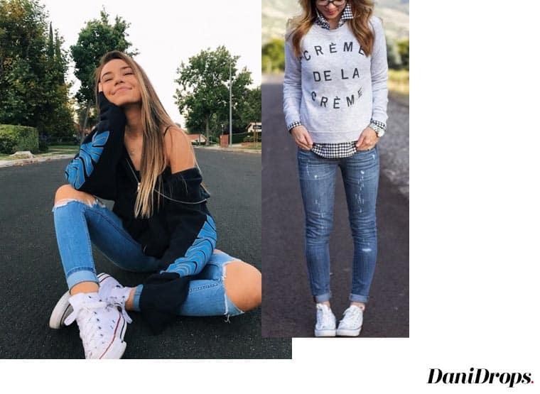 look com tênis e calça jeans