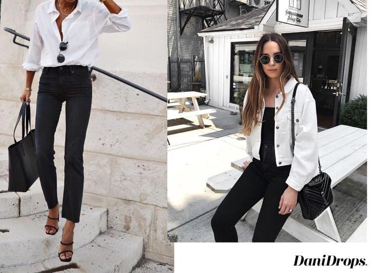 Looks com jeans preto para usar no outono