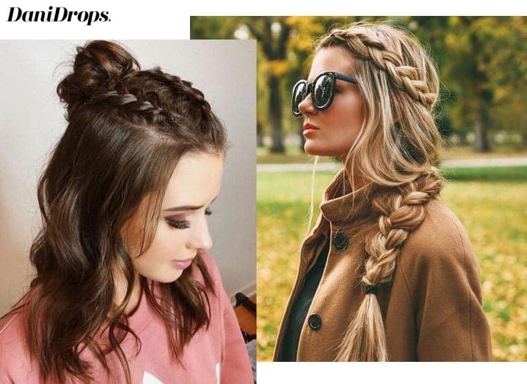 tranças no cabelo