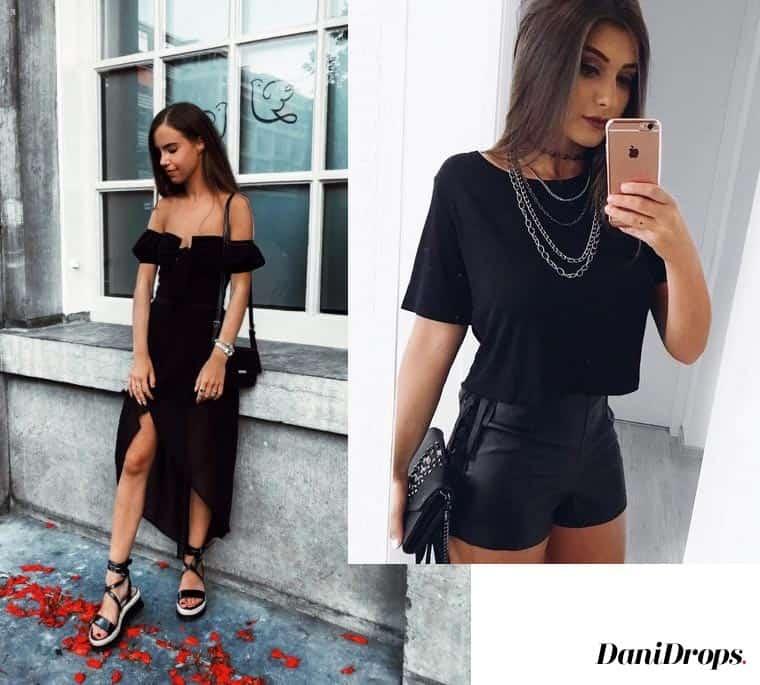 look preto vestido
